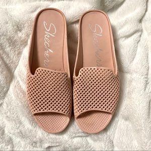 Skechers women blush pink platform sandals